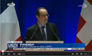 French President talking about MOOCs - https://www.youtube.com/watch?v=pzYg2GrNvmU
