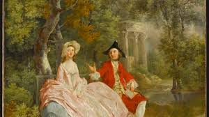 Conversation in a park (probably Gainsborough and his wife), Gainsborough Thomas (1727-1788) Location : Paris, Louvre museum © RMN-Grand Palais (Louvre museum) / Jean-Gilles Berizzi