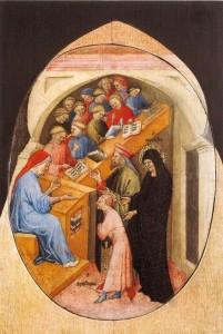 Nicolo di Pietro, The Saint Augustine Taken to School by Saint Monica, Pinacoteca Vatican