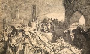La peste di Firenze del 1348 in un'incisione di Luigi Sabatelli